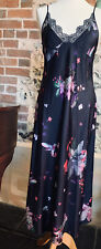 Ted Baker Navy Floral Print Pomegranate Long chemise Nightdress Size 10