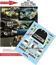 DECALS 1/24 REF 552 ALPINE RENAULT A110 MANZAGOL TOUR DE CORSE 1977 RALLY RALLYE