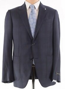 Ermenegildo Zegna NWT Sport Coat 56 46R US In Blue & Brown Plaid Fairway $2,895