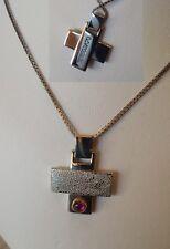 GIROCOLLO  argento  con croce acciaio  Morellato uomo