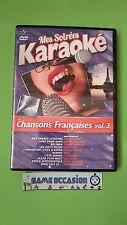 MES SOIREES KARAOKE CHANSONS FRANCAISES VOL . 3 / DVD VIDEO PAL