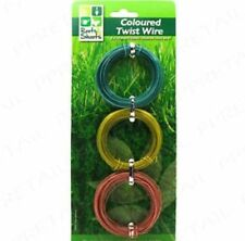 CAMOUFLAGE  GARDEN TWIST WIRE GREEN / GOLD & BRONZE COLOURED 3 X 10M  FREEPOST!
