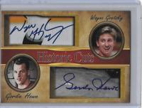 Wayne Gretzky / Gordie Howe Dual Cut Facsimile Autographs Hockey Legends