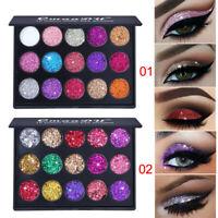 Pro Women Eyeshadow Makeup Kit Shimmer Glitter Eye Shadow Powder Palette Matte