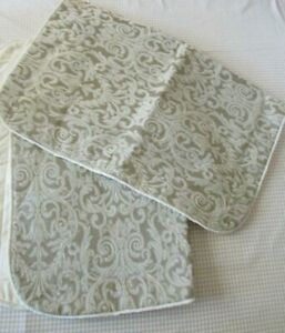 """Court of Versailles Pair of Gray/Green Large Decorative Pillow Shams 20"""" x 26"""""""