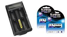 Nitecore um20 Lcd inteligente 18650 Usb Li-ion Batería Cargador Y 2 X 18650
