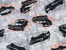RPFMD51A Vintage Look Hot Rod Muscle Cars Cruise Street Race Cotton Quilt Fabric