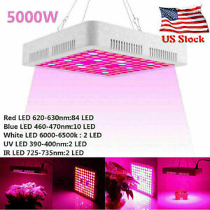 5000W LED Grow Light Full Spectrum Hydroponic Indoor Plant Flower Bloom IP65
