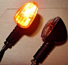 2X Black Motorcycle Turn Signal Indicator Light Lamp Bulb For Classic Cafe Racer