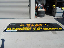 Camel Cash Destination Pleasure Welcome Vip Guests Advertising Banner Tobacco