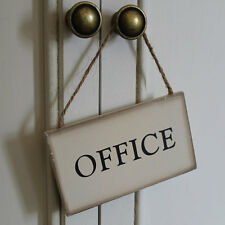 colgante letreros trabajo a domicilio lugar oficina vintage envejecido