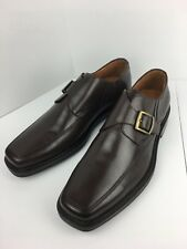 JOHNSTON & MURPHY 20-0084 Rollins Buckle Shoe Men's Leather Dark Brown 12 M NIB