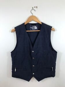 Vintage The North Face Blue Label Made In USA Down Vest Gilet Waistcoat Medium