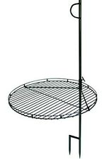 Portable Swing Away Wood Fire Grill Swivel Grate Campfire Pit Camp Cooking Stake
