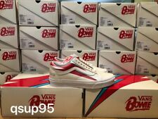 40ad6c7949a618 Vans x David Bowie Old Skool Aladdin Sane Cream Red VN0A38G1VIP Size 4-13  New