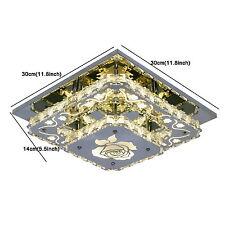 Top Modern Crystal LED Ceiling Light Fixture Pendant Lamp Flush Mount Chandelier