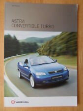 VAUXHALL ASTRA CONVERTIBLE TURBO 2003 UK Mkt Sales Brochure - Bertone interest