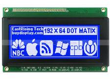 """3.3""""Blue 192x64 Dots Graphic LCD Display Module LCM w/KS0107+KS0108 w/Tutorial"""