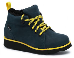 Clarks CROWN TOR Boys Girls NAVY Leather Waterproof Warm Lined Boots 10-2 GFit