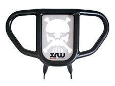 Ltz Kfx 400 PARACHOQUES DELANTERO NEGRO XR9 Cráneo Calavera Plata 2003-2015 XRW Suzuki
