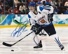 Teemu Selanne #0  8x10 Signed w/ COA #  8x10 Signed Team Finland  031019