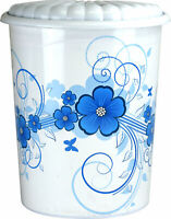 High Quality - 45L Flower Design Oyster Shell Style Plastic Bin Rubbish Kitchen