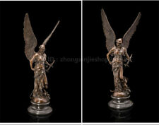 New listing Bronze Marble Art Deco Sculpture Athena Angel Soldier Goddess Of Victory statue