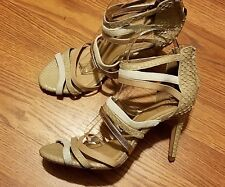 "Joie ""Zee"" (3.5 inch heels) Multi-Strap Nude (EUR Sz 37.5) US 7--7.5 (DISPLAY)"