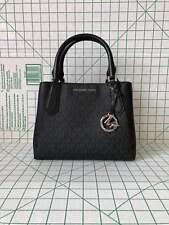 Michael Kors Kimberly Small Satchel Leather& Signature PVC Crossbody Bag