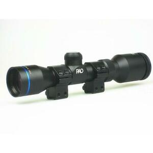 PAO 2-7x32 Pistol Scope Duplex 30-30 Reticle Long Eye Relief
