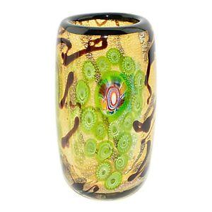 1997 Traumwelt aus Glas Unikate Kunst aus Handgefertigtem Bunt-Glas ~ Vase