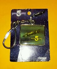 Babylon 5 Station Logo Metal Keychain Vintage from 1998