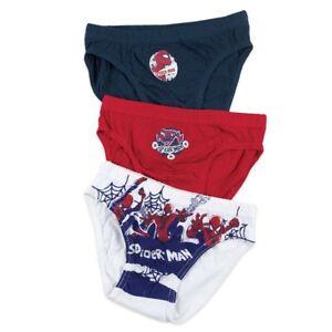 Spiderman Marvel 3-Pack Set 100% Cotton boys Briefs Knickers underwear 4-5 Years