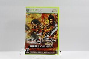Xbox 360 Sengoku Musou 2 with Moushouden Japan Import USA Seller
