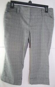 """Star City Womens Juniors Size 7 Gray Dress Bermuda Shorts Capri Pants 17.25"""" in"""