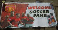 Manchester United 2003 ufficiale Stati Uniti BUDWEISER Tour Banner ULTRA RARA