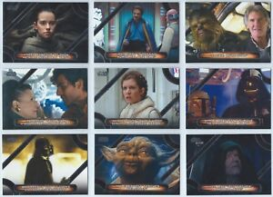 2018 Topps Star Wars Galactic Files Complete 10 Card Insert Memorable Quotes