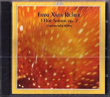 Franz Xaver Richter 3 FLUTE Trio Sonatas camerata colonia CPO CD Karl imperatore