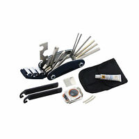 Bicycle Cycling Puncture Bike Multi Function Tool Repair Kit Set With Pouch