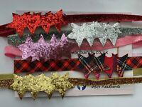 Twinkle Star Girl Elastic Headband Bow Baby Sparkle Glitter Christmas  + Lot