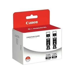 Genuine Canon Twin Pack BLACK Ink Cartridges Tanks PGI-225PGBK New in Box