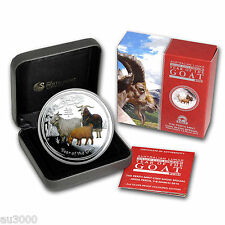 2015 $2 AUSTRALIA GOAT 2 Oz. Colorized PROOF SILVER ANDA Coin Show Mintage: 1000