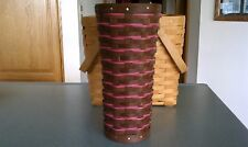Longaberger Collector's Club Medium Blooms Basket vase & prot Rich brown & Pink