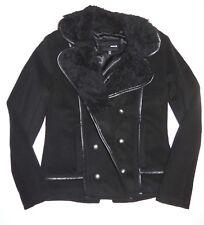 New Hurley Womens Cropped Watson Fashion Sherpa Collar Jacket Coat Small