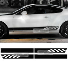 UniversalCar Side Lower Door Decal Sticker Stripe Checker Line for All Vehicle