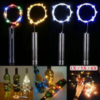 20 LEDs Cork Shaped Bottle Fairy String Lights Xmas Wedding Party Home Decor NEW