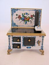 FLOWER TILE KITCHEN STOVE dollhouse miniature JS118949  1/12 Scale metal Germany