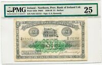 1936-46 Northern Ireland Provincial Bank of Ireland £1 One Pound Note PMG VF25