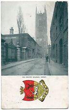 P.C View All Saints Church With Crest Buck In The Park Derby Derbyshire P U 1905