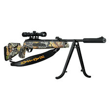 Hatsan Mod 125 Camo Sniper .177 Cal 1250fps Air Rifle w/ Scope, Bipod & Sling